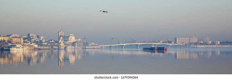 October 17, 2018. Kiev, postal area at dawn