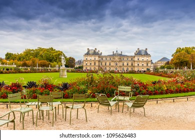 October 18, 2015: The Luxembourg Gardens and the Senate in Paris, France