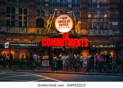 October 19, 2014,Palace Theatre, West End London, UK. Nightlife on the streets of London