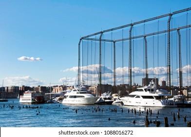 October 2 2017, Chelsea Pier Marina in Manhattan, New York City