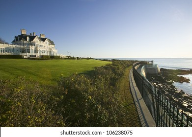 OCTOBER 2006 - Summer mansion on the Cliff Walk, Cliffside Mansions of Newport Rhode Island