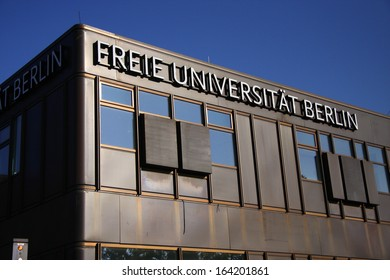 "OCTOBER 2011 - BERLIN: the ""Rostlaube"" (rusty building), Free University of Berlin (FU Berlin)."