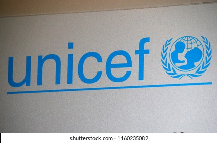 "OCTOBER 2016 - BERLIN: the logo of the brand ""Unicef""."