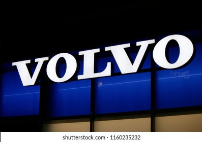 "OCTOBER 2016 - BERLIN: the logo of the brand ""Volvo""."