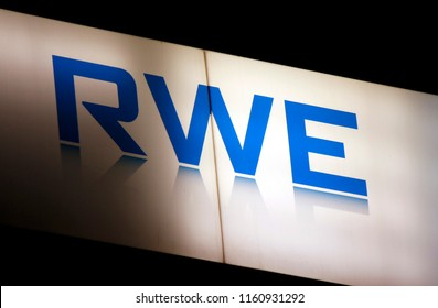 "OCTOBER 2016 - BERLIN: the logo of the brand ""RWE""."