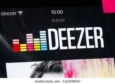 "OCTOBER 2016 - BERLIN: the logo of the brand ""Deezer""."