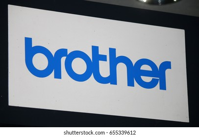 "OCTOBER 2016 - BERLIN: the logo of the brand ""Brother"", Berlin."