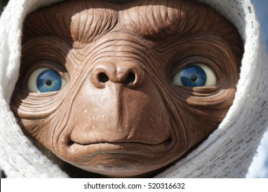 "OCTOBER 2016 - BERLIN: a waxwork of the ""ET - the Extraterrestrial"" character of the Steven Spielberg movie, Berlin."