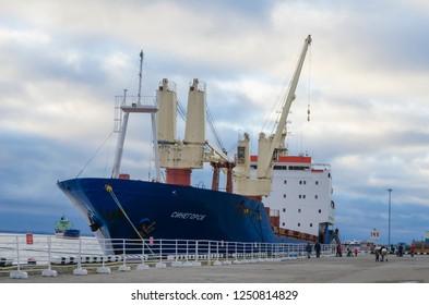"""October, 2018 - Arkhangelsk. Cargo ship """"Sinegorsk"""". Russia, Arkhangelsk"""