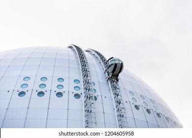 October 2018, Stockholm. Ericsson Globe, spherical building