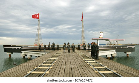 October 21 2013, Animation of may 19 1919, Ataturk and his brother in arms in Samsun, Turkey