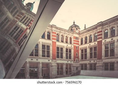 October 22, 2017, London, England : architecture of Victoria and Albert Museum