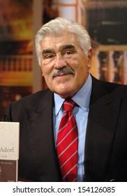 "OCTOBER 23, 2005 - BERLIN: Mario Adorf at a tv production ""bookmark"" (3sat), Berlin."