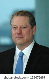 OCTOBER 23, 2007 - BERLIN: Al Gore at a press conference after a meeting with the German Chancellor in the Chanclery in Berlin.