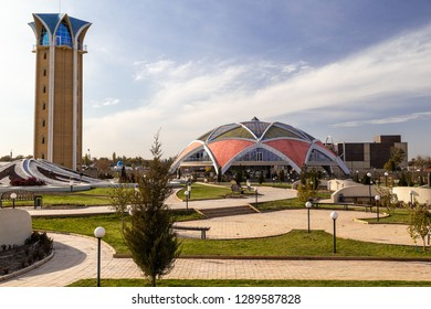 October 23. 2018. View of the House of Friendship in Taraz city. Opened on November and 20th, 2016 and located at the historical and cultural center of Ancient Tarat. Kazakhstan, middle asia.