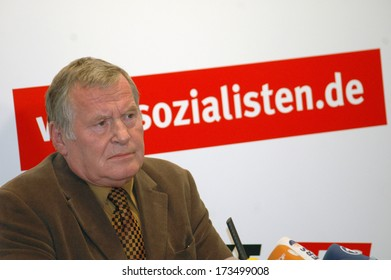 OCTOBER 24, 2005 - BERLIN: Lothar Bisky, chairman of the PDS, at a press conference in Berlin.