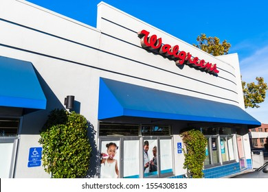 October 24, 2019 Sunnyvale / CA / USA - Walgreens pharmacy local branch; Walgreens (part of  Walgreens Boots Alliance Inc. holding) operates the second-largest pharmacy store chain in the USA