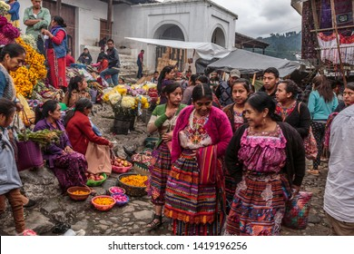 October 25th , 2018 - Town of Chichicastenango in Guatemala - Local indigenous people in the market