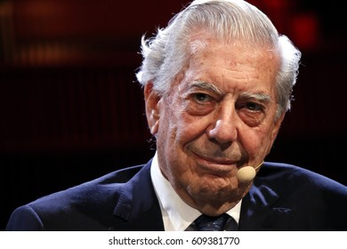 OCTOBER 26, 2016 - BERLIN: Nobel prize winner Mario Vargas Llosa before a reading of his latest novel in Berlin.