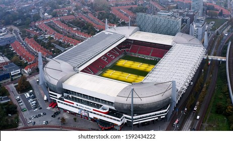 OCTOBER 26, 2019, Eindhoven, Netherlands : Philips Stadium is a football stadium in Eindhoven, Netherlands, and it is the home of PSV, also known as PSV Eindhoven that plays in Dutch Eredivisie league