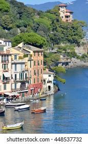 October 27, 2014. Italy, Portofino. Italian resort in autumn.