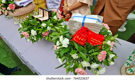 October 28, 2017 Money and Diamond Ring  for Wedding , Hat Yai, Songkhla, Thailand