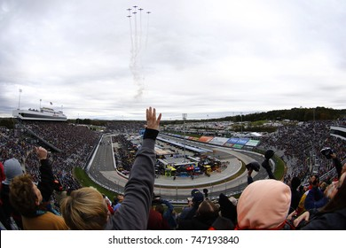 October 29, 2017 - Martinsville, Virginia, USA: Spectators look on during the National Anthem before the start of the First Data 500 at Martinsville Speedway in Martinsville, Virginia.