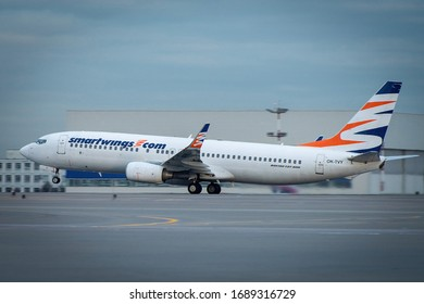 October 29, 2019, Moscow, Russia. Plane Boeing 737-800 Smartwings Airlines at Sheremetyevo airport in Moscow.