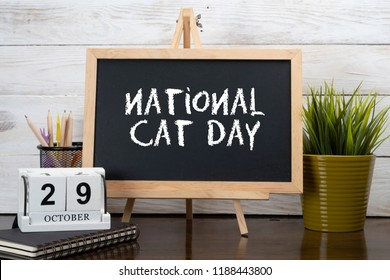 October 29th - National Cat day.  Calendar event concept.