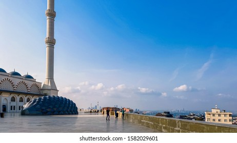 October 30, 2019. Istanbul Camlica Mosque. Turkish Camlica Camii. The biggest mosque in Turkey. The new mosque and the biggest in Istanbul. Located on the beautiful Buyuk Camlica Tepesi hill, Uskudar.
