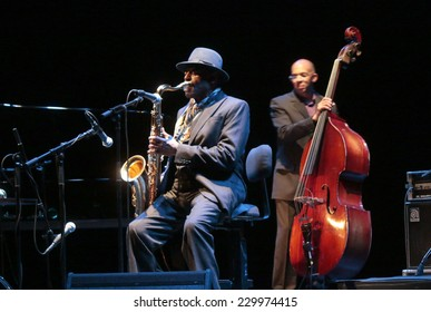 "OCTOBER 31, 2014 - BERLIN: Archie Shepp, Darryl Hall - concert of the ""Archie Shepp Quartet""  at the ""Jazzfest Berlin""."