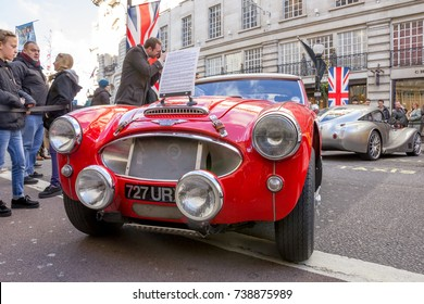 October 31st 2015, The Regent Street Motor Show, a showcase of privately owned classic and modern cars, London, England.