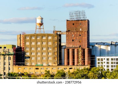 October, 4, 2014: Minneapolis, MN, USA - industrial buildings near downtown