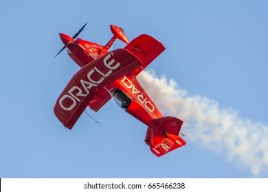 October 4, 2015. MCAS Miramar Air Show, San Diego, USA. Sean D. Tucker, Team Oracle Air Shows