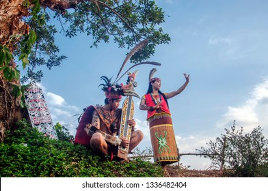 October 5, 2014 collaboration between traditional dancers and musicians from the Dayak tribe, West Kalimantan, Indonesia