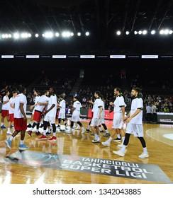 October 6, 2018/Istanbul,Turkey: Tahincioglu Basketball super league game between Darussafaka Tekfen vs Gazi Antep at Volkswagen Arena.