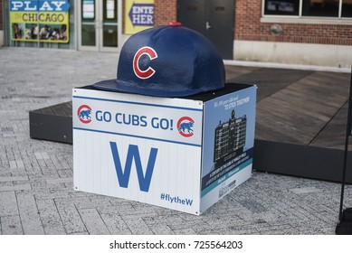 October 8, 2016 - Chicago Cubs decorative piece in Navy Pier