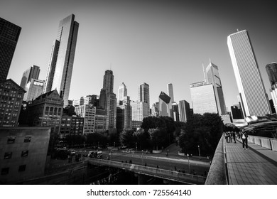 October 8, 2016 - Chicago skyline view from Grant Park