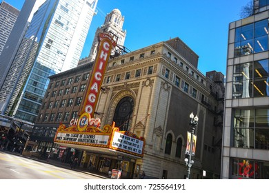 October 8, 2016 -  Frontal view of the Chicago Theater