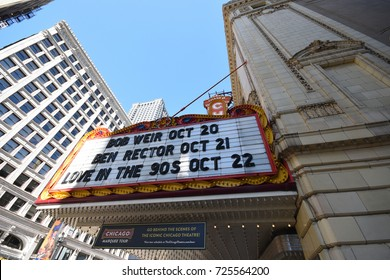 October 8, 2016 - Marquee of the Chicago Theater