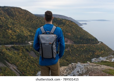 October 8, 2017 - Overlooking the Cabot Trail from the viewpoint at the end of the Skyline Trail in Cape Breton Highlands National Park (NS, Canada)
