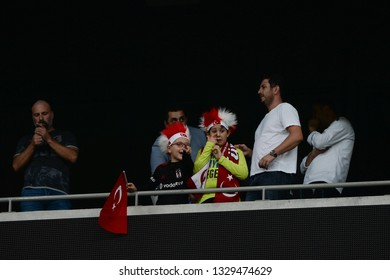 October 9, 2017/ Istanbul, Turkey: Turkish fans during European Amputee Championship game between Turkish Amputee National Team vs England Amputee National team at BJK Inonu Stadium.