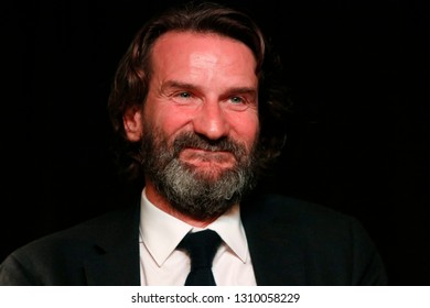 OCTOBER 9, 2018 - BERLIN: French writer Frederic Beigbeder at a presentation of his latest book.