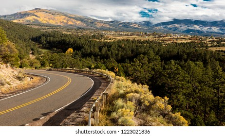 OCTOBER 9, 2018 -  Truchas, New Mexico, USA -Hi Road to Taos, New Mexico - National Scenic Byway, Truchas, New Mexico
