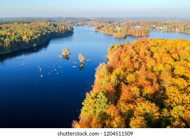 October lake - Swedish aerial landscape