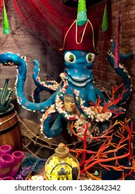 Octopus, colorful decoration