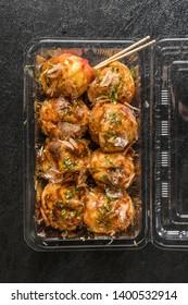 octopus dough balls (Takoyaki) japanese food