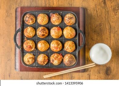 octopus dough balls Takoyaki japanese food