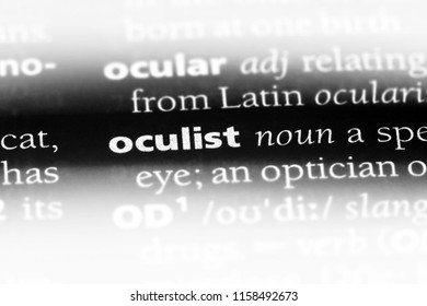 oculist word in a dictionary. oculist concept.