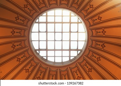 Oculus on the dome of the State Capitol of Virginia in Richmond, VA